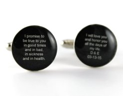 Black and white personalised cufflinks - www.etsy.com/shop/dlkdesigns