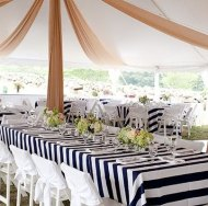 Black and white tablecloths - www.etsy.com/shop/ModernCelebrations