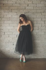Black tulle bridesmaid dress - www.etsy.com/shop/CleoandClementine