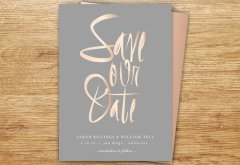 Blush and grey save the date - www.etsy.com/shop/P27Creative