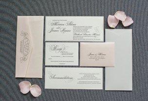 Blush and grey wedding invitation - www.etsy.com/shop/LamaWorks
