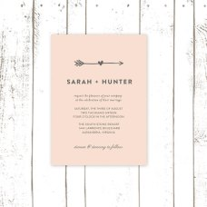 Blush and grey wedding invitation - www.etsy.com/shop/MooseberryPaperCo