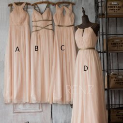 Blush bridesmaid dress in four styles - www.etsy.com/shop/RenzRags