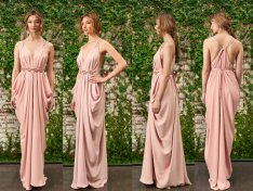 Blush bridesmaid dress - www.etsy.com/shop/LoisLondonNYC