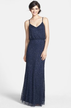 Midnight blue Adrianna Papell blouson dress - nordstrom.com