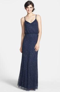 Midnight blue Adrianna Papell blouson dress - nordstrom.com
