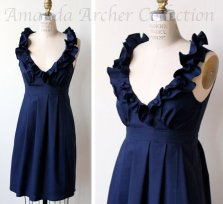Midnight blue bridesmaid dress - www.etsy.com/shop/AmandaArcher