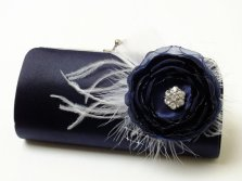 Midnight blue clutch purse - www.etsy.com/shop/FallenSparrow