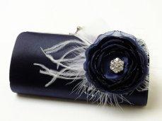 Midnight blue clutch purse - www.etsy.com/shop/FallenSparrow