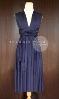 Midnight blue convertable bridesmaid dress - www.etsy.com/shop/thedaintyard