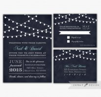 Midnight blue wedding invitation - www.etsy.com/shop/chitrap