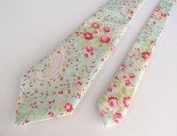 Pink and aqua necktie - www.etsy.com/shop/BoyHowdyClothing