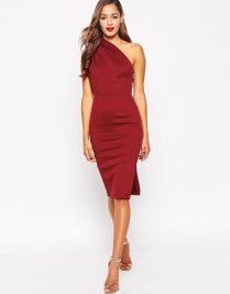 ASOS One Shoulder With Exposed Zip Dress, from asos.com
