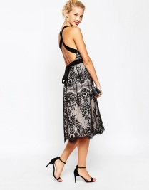 ASOS PETITE Premium Eyelash Lace Midi Prom Dress, from asos.com