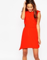 ASOS Sleeveless Channel Waist Overlay Dress, from asos.com