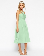 ASOS WEDDING Midi Dress With Halter Neck Detail, from asos.com