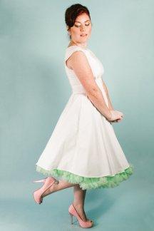 Audrey Hepburn-style reception dress/short wedding dress - www.etsy.com/shop/MissBrache