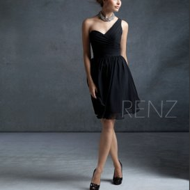 Black bridesmaid dress - www.etsy.com/shop/RenzRags