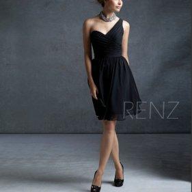 Black bridesmaid dress - www.etsy.com/shop/RenzRags