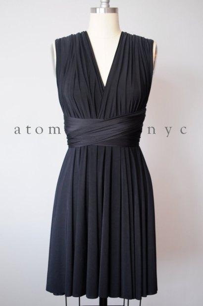 Black convertible bridesmaid dress - www.etsy.com/shop/AtomAttire