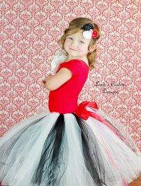 Black, white and red flower girl tutu - www.etsy.com/shop/sweethearttutus