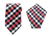 Black, white and red men's tie - www.etsy.com/shop/AristoTIES