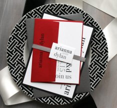 Black, white and red wedding invitation - www.etsy.com/shop/BeaconLane
