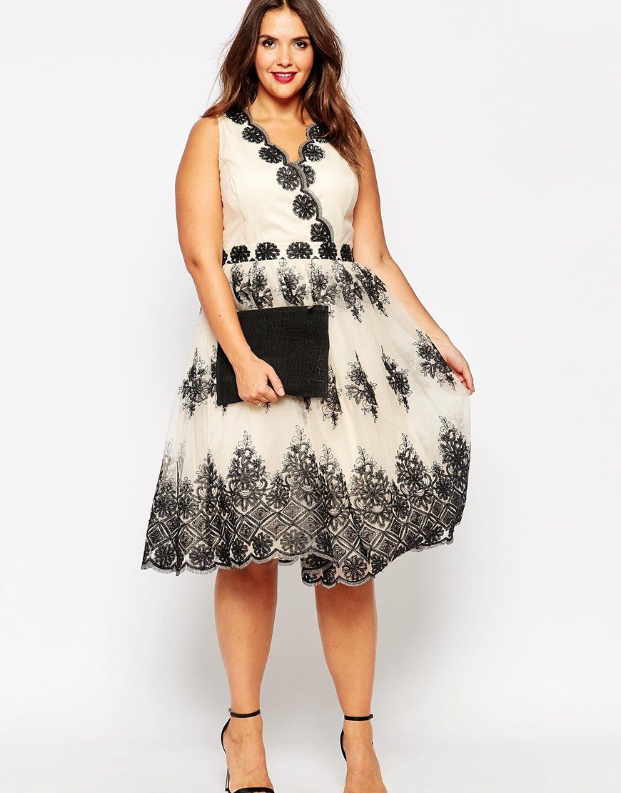 chi chi london plus wrap embroidered midi dress from asos. Black Bedroom Furniture Sets. Home Design Ideas