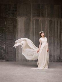 Chiffon wedding dress - www.etsy.com/shop/Milamirabridal