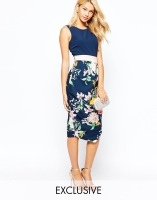 Closet 2 In 1 Contrast Midi Dress, from asos.com