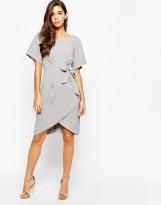 Closet Tie Front Dress With Kimono Sleeve, from asos.com