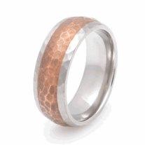 Copper and titanium wedding band - www.etsy.com/shop/KBTitaniumDesigns