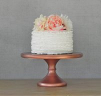Copper cake stand - www.etsy.com/shop/EIsabellaDesigns