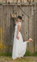 Cotton, chiffon and lace wedding dress - www.etsy.com/shop/WearYourLoveXO