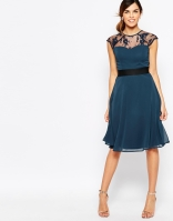 Elise Ryan Midi Prom Dress With Sweetheart Lace Top, from asos.com