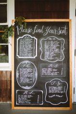 Fancy chalkboard seating plan {via weddingwire.com}