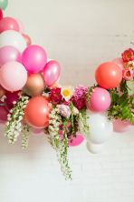 Flower and balloon decorations {via thehousethatlarsbuilt.com}