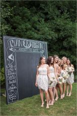 Giant chalkboard as a photobooth {via weddingpartyapp.com}