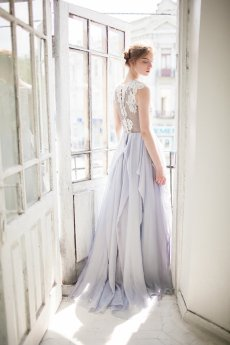 Light grey wedding dress - www.etsy.com/shop/CarouselFashion