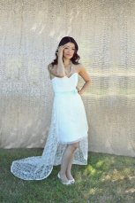 Lace reception dress/short wedding dress - www.etsy.com/shop/PureMagnoliaCouture