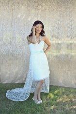 Lace reception dress/short wedding dress - www.etsy.com/shop/PureMagnoliaCouture