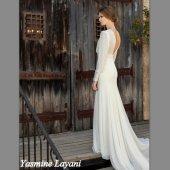 Long sleeved chiffon wedding dress - www.etsy.com/shop/Yasminelayani
