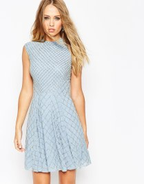 Needle & Thread Circle Mesh Embellished Skater Dress, from asos.com