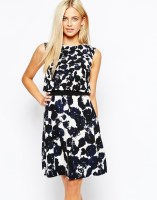 Oasis Mono Print 2 In 1 Dress, from asos.com