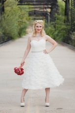 Organza reception dress/short wedding dress - www.etsy.com/shop/thepeppermintpretty
