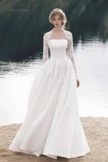 Silk and lace wedding dress - www.etsy.com/shop/CoconBridal