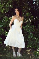 Silk reception dress/short wedding dress - www.etsy.com/shop/PureMagnoliaCouture