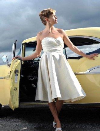 Silk reception dress/short wedding dress - www.etsy.com/shop/TaraLynnStudio