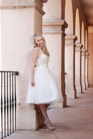 Tulle and satin reception dress/short wedding dress - www.etsy.com/shop/TheLittleWhiteDress