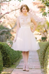 Tulle reception dress/short wedding dress - www.etsy.com/shop/JuLeeCollections
